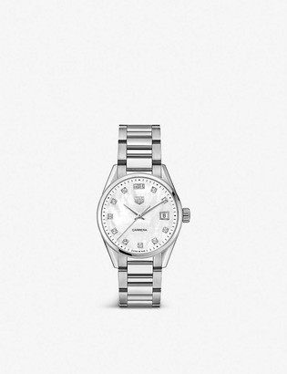 Tag Heuer Carrera 36mm stainless steel and crystal watch