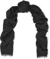 Brunello Cucinelli Metallic Knitted Scarf - Charcoal
