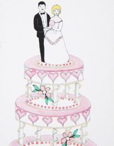 Rosie Wonders Handmade Wedding Cake Card