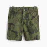 J.Crew Boys' camo Stanton short in lightweight garment-dyed chino