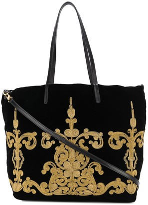 Etro Thread Embroidery Tote Bag