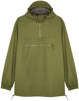 Rains Ultralight army green rubberised raincoat