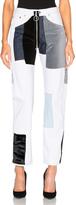 Off-White Velvet Patch Pocket Jeans