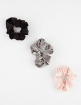 Full Tilt 3 Pack Velvet Scrunchies