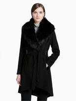 Calvin Klein Luxe Basketweave Belted Jacket
