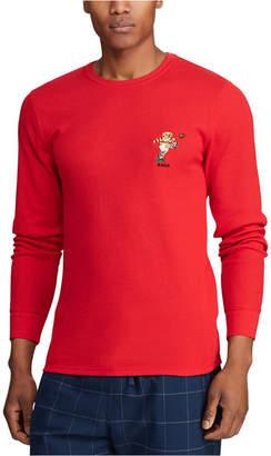 Polo Ralph Lauren Men Ski & Rugby Bear Waffle Pajama Shirt