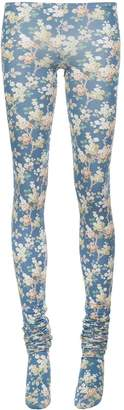 Delada floral print extra-long tights