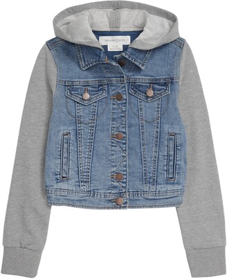 Treasure & Bond Kids' Hooded Denim Jacket