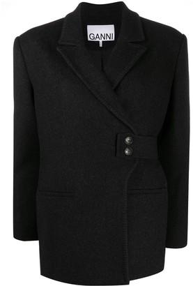 Ganni Wrap-Front Jacket