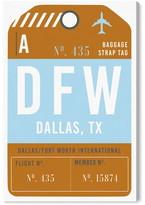 Oliver Gal Dallas Luggage Tag Wall Art