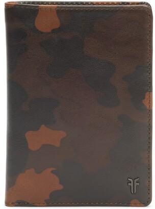 Frye Austin Leather Passport Wallet
