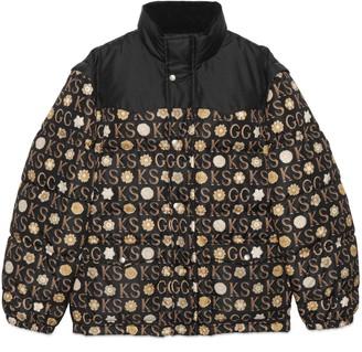 Gucci Ken Scott x print down jacket