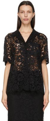 Valentino Black Lace Shirt