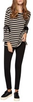 Sanctuary Women's Tierney Stripe Tie Sleeve Sweatshirt