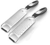 Jamie Oliver JB9130 Cookware Range Acid Etched Fine and Coarse Grater Set - Stainless Steel, Silver, Set of 2