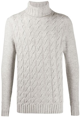N.Peal Cable Knit Cashmere Jumper