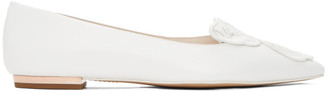 Sophia Webster White Bibi Butterfly Flats