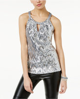 INC International Concepts Sequined Halter Top, Only at Macy's