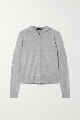 Theory Cashair Cashmere Hoodie - Light gray