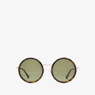 Saint Laurent SL 136 Combi (Dark Havana/Green) Fashion Sunglasses