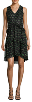Anna Sui Silk Printed High Low Dress