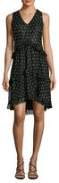 Anna Sui Silk Printed High Low Dress