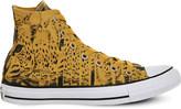 Converse hi leopard print trainers