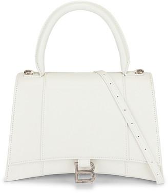 Balenciaga Medium Hourglass Top Handle Bag in White | FWRD