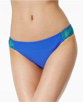 California Waves Crochet-Side Bikini Bottoms