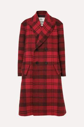 Vivienne Westwood Princess Checked Wool Coat - Red