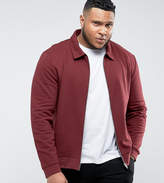 Asos Plus Jersey Harrington Jacket In Red