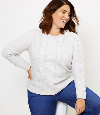 LOFT Plus Textured Cable Sweater
