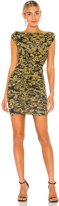 Versace Paisley Gold Print Dress