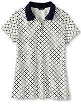 Classic Women's Slim Fit Pique Polo Shirt-White/Indian Emerald Nautical