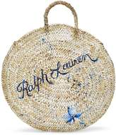 Ralph Lauren Hand-Painted Raffia Tote Bag