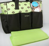 Carter's Diaper Baby Bag Purse Tote & Changing Pad 2 Piece Set Monkeys by