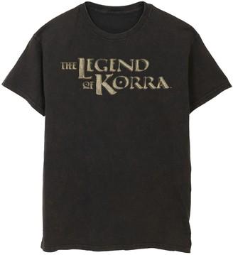Nickelodeon Men's Legend Of Korra Golden Stone Show Logo Graphic Tee