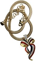 Stars & Stripes Products Patriotic Support Our Troops Bow Neckslide with 7MM Omega Chain