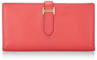 Hermes Rouge Tomate Epsom Bearn Wallet