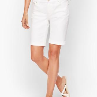 Talbots Girlfriend Denim Shorts - White