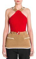 Miu Miu Knit Colorblock Top