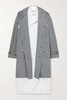 Thumbnail for your product : Junya Watanabe Layered Checked Wool-blend And Cotton-poplin Trench Coat - Gray