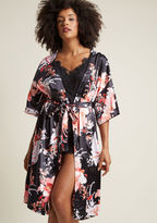 MinkPink Brews on the Balcony Robe in Black in M/L