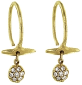 Ten Thousand Things Diamond Pavé Button and Bar Hoop Earrings