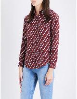 Sandro Star-print silk shirt