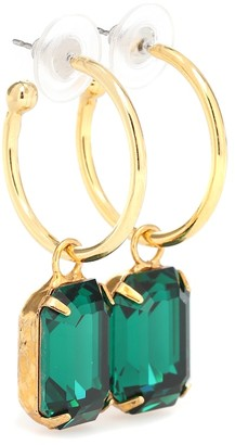 Jennifer Behr Exclusive to Mytheresa Jane embellished hoop earrings