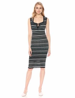 BCBGMAXAZRIA Azria Women's Dotted Stripe Bodycon Dress