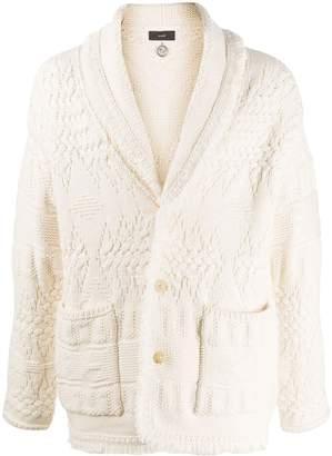 Alanui cable-knit shawl-collar cardigan