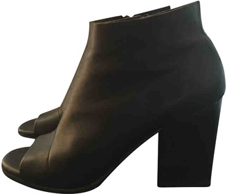 Coclico Black Leather Ankle boots