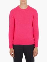 Acne Studios Pink Reverse-knit Kai Sweater